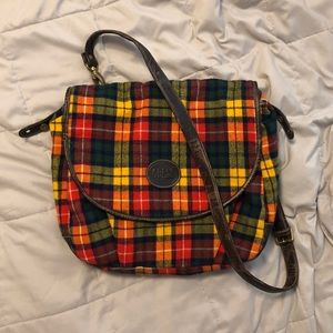 GUESS inspired fall plaid shoulder bag 🍁